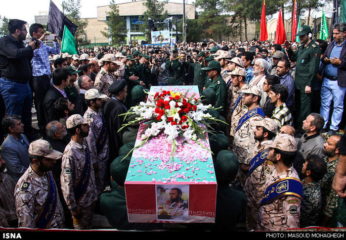 Funeral of Revolutionary Guards member killed in Syria