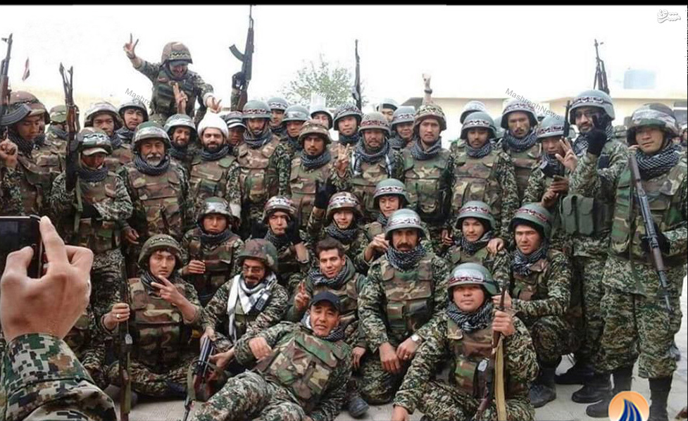 Fatemiyoun fighters in Syria